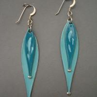 Sea green double drop jerrines earrings