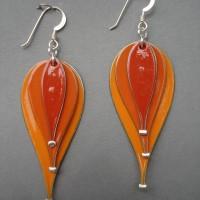 Orange hot air balloons jerrines earrings