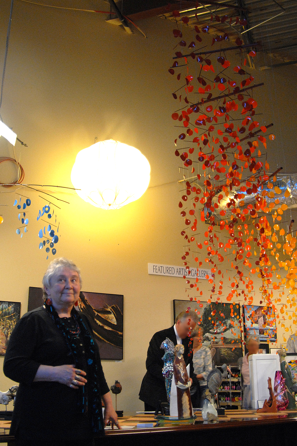"""Candyce with """"Steps of Recovery"""" at the Geezer Gallery"""