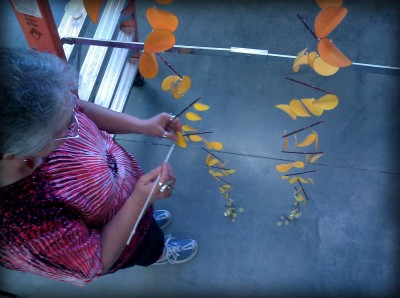 Candyce Scott creating her new sculpture for the First Unitarian Church of Portland